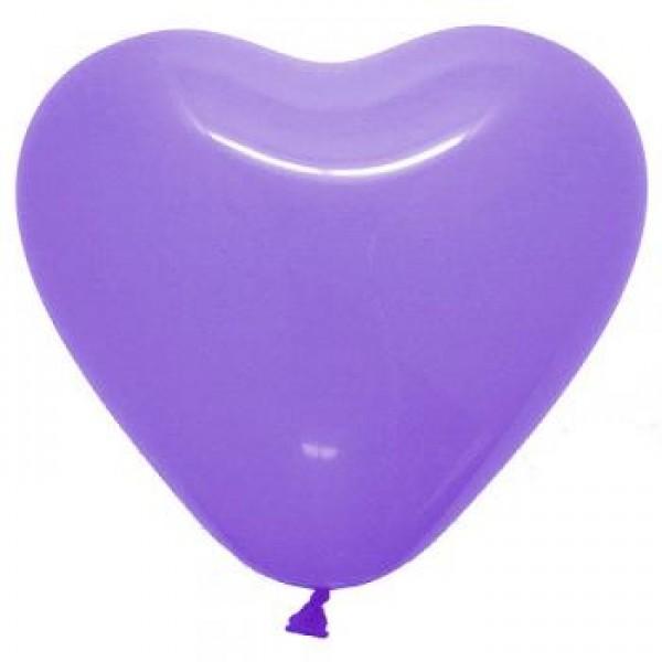 5 Heart Shape Lilac Balloons ~ 100pcs Thailand OEM