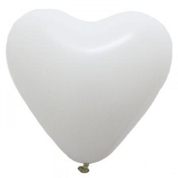 5 Heart Shape White Balloons ~ 100pcs Thailand OEM