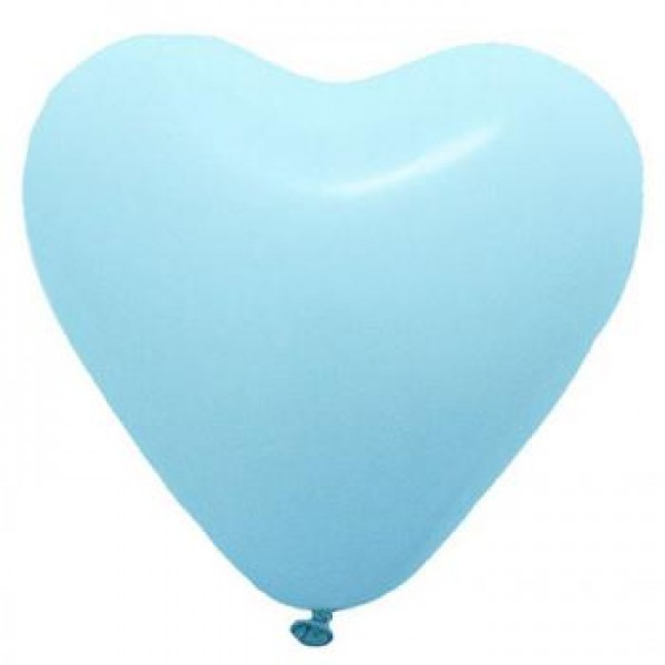 5 Heart Shape Light Blue Balloons ~ 100pcs Thailand OEM