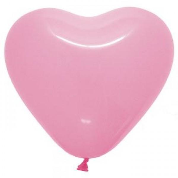 6 Heart Shape Pink Balloons ~ 100pcs Thailand OEM