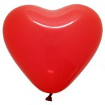 "6"" Inch Heart Shape Red Balloons ~ 100pcs"