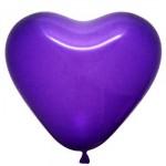 """6"""" Heart Shape Violet Balloons ~ 100pcs"""