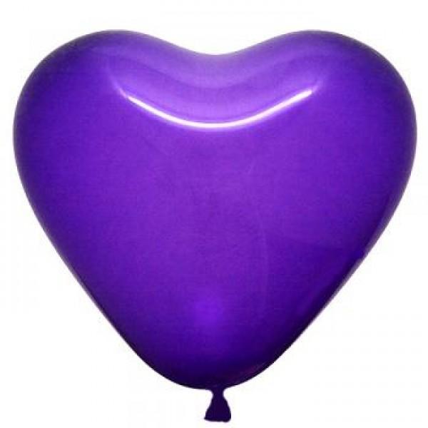 6 Heart Shape Violet Balloons ~ 100pcs Thailand OEM