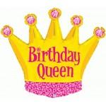 Betallic 36 Inch Birthday Queen Crown Balloon