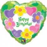"Qualatex 18"" Birthday Hearts & Flowers"