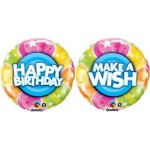 "Qualatex 18"" Birthday Make A Wish Stars"