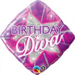 "Qualatex 18"" Diamond Birthday Diva"