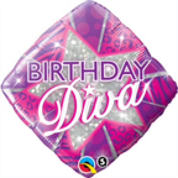 Qualatex 18 Diamond Birthday Diva Qualatex