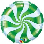 Qualatex 18 inch Candy Swirl Green
