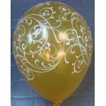 "Sempertex 12"" AO Filigree Gold ~ 25pcs"