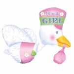 """Anagram 23""""x32"""" 3D It's A Girl Joy Stork"""