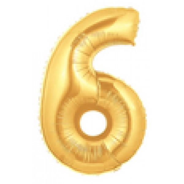 Betallic 14 Number 6 Gold Betallic