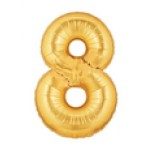 "Betallic 14"" Number 8 Gold"