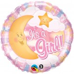 "Qualatex 18"" It's A Girl Celestial Pink"
