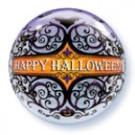 "Qualatex 22"" Inch Halloween Scroll & Bats"