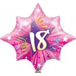 """Qualatex 28"""" 18 Shining Star Hot Pink"""