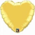 "Qualatex 36"" Heart Metallic Gold"