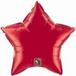 "Qualatex 9"" Star Ruby Red ~ 10pcs"