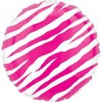 """Anagram 18"""" Pink Zebra Balloon"""