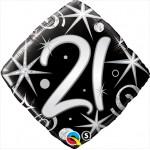 Qualatex 18 inch 21st Elegant Sparkles & Swirls