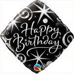 Qualatex 18 inch Birthday Elegant Sparkles