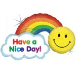 "Betallic 45"" Have A Nice Day! Rainbow"
