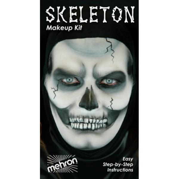 Mehron Makeup Kit - Skeleton Mehron Makeup