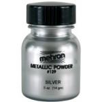 Mehron Metallic Powder Silver .5 oz.