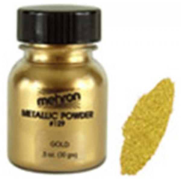 Mehron Metllic Powder Gold 1 oz. Mehron Makeup