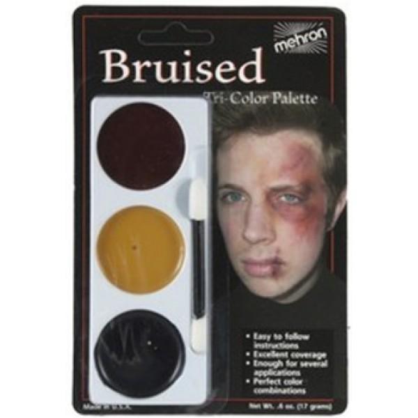 Mehron Tri-Color Palette - Bruised Mehron Makeup