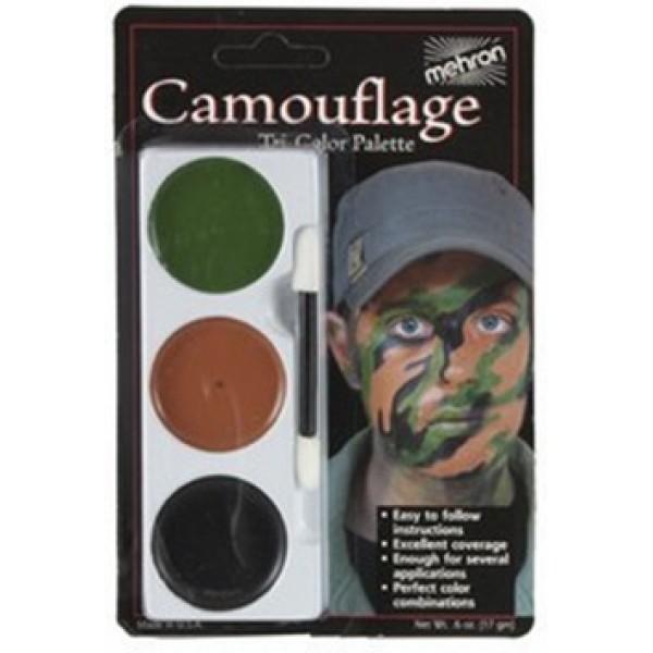 Mehron Tri-Color Palette - Camouflage Mehron Makeup