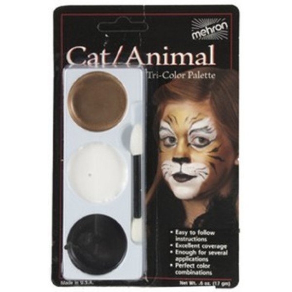 Mehron Tri-Color Palette - Cat / Animal Mehron Makeup