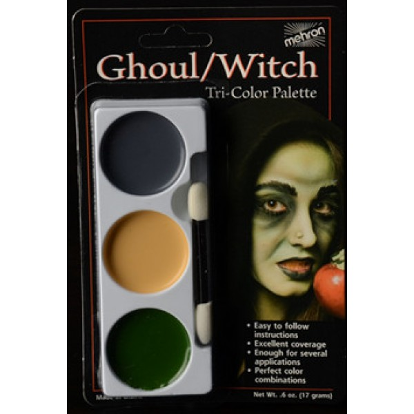 Mehron Tri-Color Palette - Ghoul / Witch Mehron Makeup