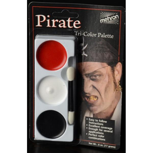 Mehron Tri-Color Palette - Pirate Mehron Makeup