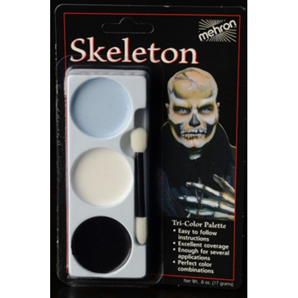 Mehron Tri-Color Palette - Skeleton Mehron Makeup