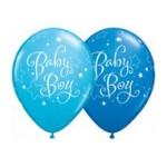 Qualatex 11 inch Baby Boy Stars ~ 10pcs
