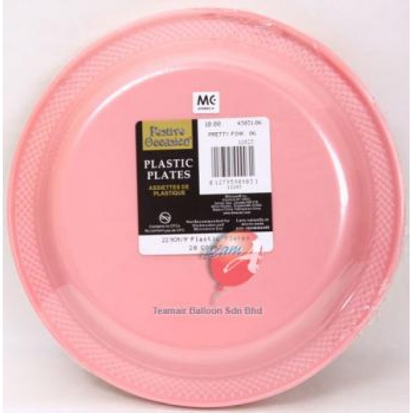 Amscan 22.9cm Pretty Pink Plastic Plate ~ 20pcs - from category ...