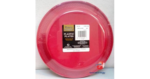 Amscan 26cm Apple Red Plastic Plate ~ 20pcs - from category Tableware (BalloonMalaysia.com)  sc 1 st  BalloonMalaysia.com & Amscan 26cm Apple Red Plastic Plate ~ 20pcs - from category ...