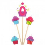 Amscan Cupcake Birthday Candle 0