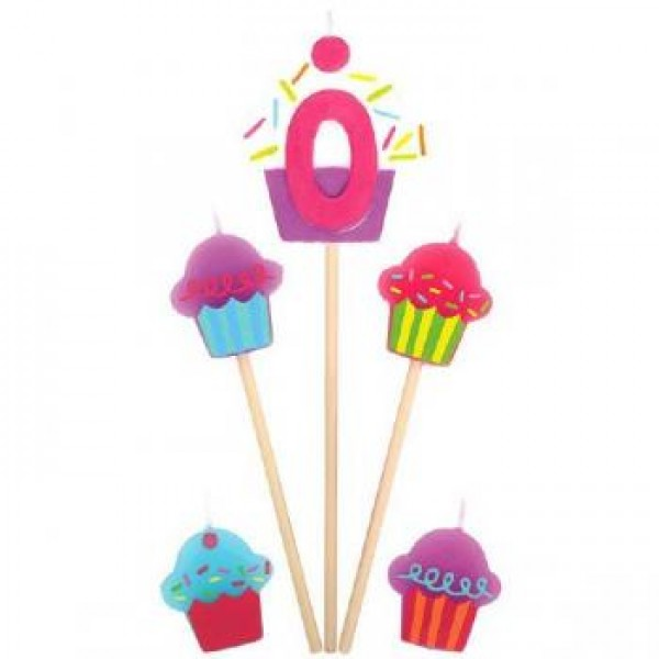 Amscan Cupcake Birthday Candle 0 Amscan