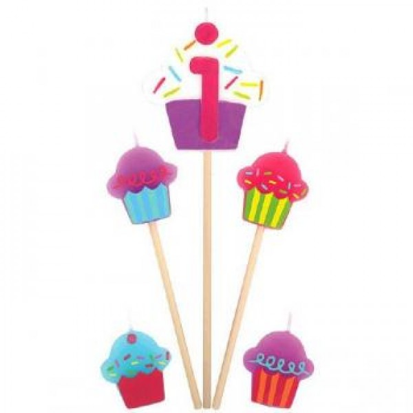 Amscan Cupcake Birthday Candle 1