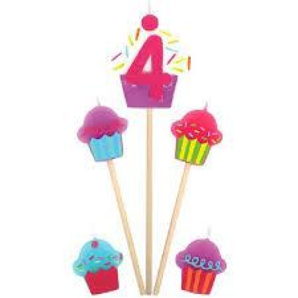 Amscan Cupcake Birthday Candle 4 Amscan
