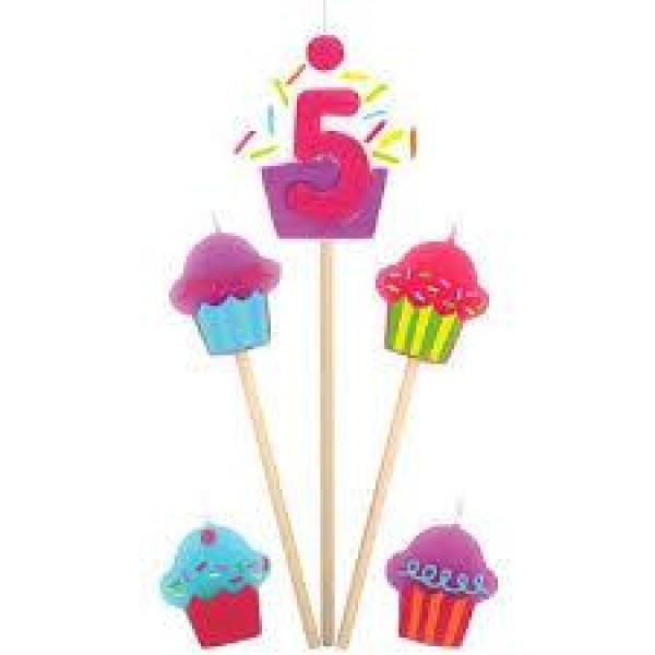 Amscan Cupcake Birthday Candle 5 Amscan