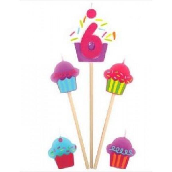 Amscan Cupcake Birthday Candle 6 Amscan
