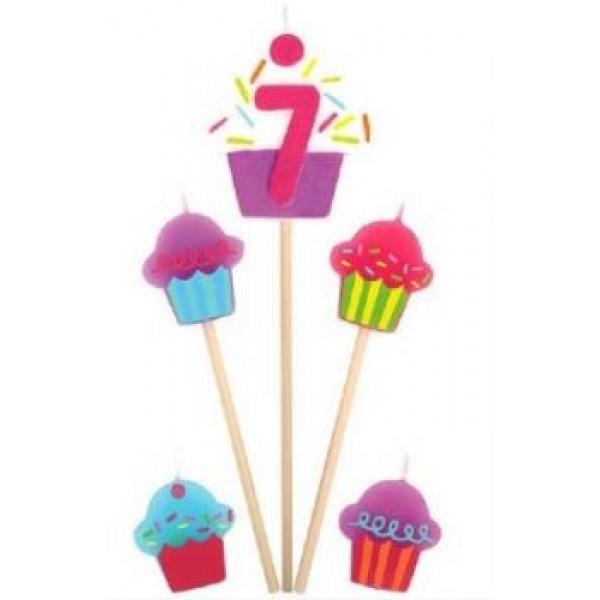 Amscan Cupcake Birthday Candle 7 Amscan