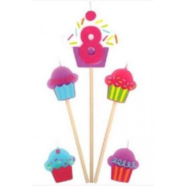 Amscan Cupcake Birthday Candle 8 Amscan
