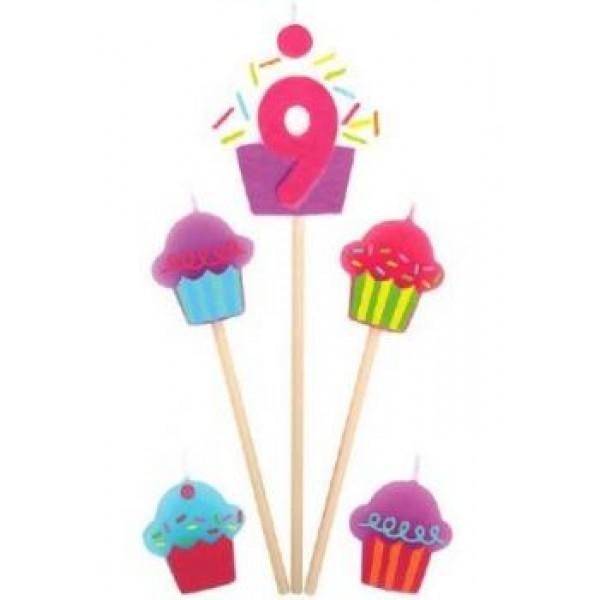 Amscan Cupcake Birthday Candle 9 Amscan