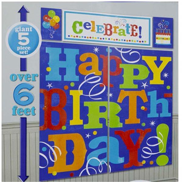 10 Happy Birthday Scene Setter Amscan