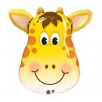"Qualatex 32"" Inch Jolly Giraffe Head SuperShape Balloon"