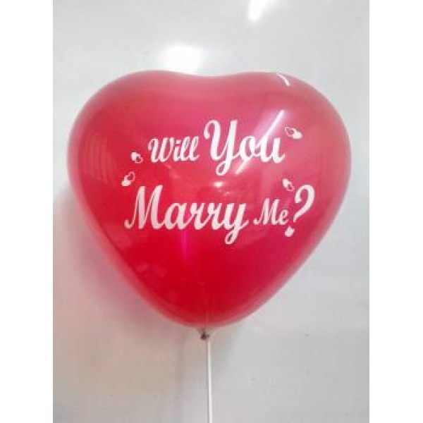 12 Heart Shape Will You Marry Me? Red ~ 10pcs Thailand OEM
